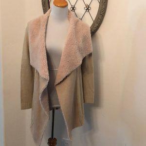 Rue 21 beige long open sweater size small
